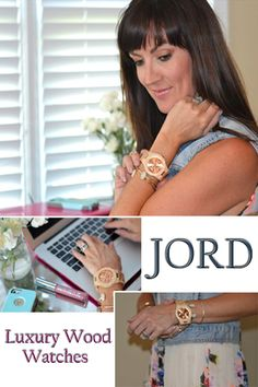JORD is a luxury timepiece company who specializes in wood watches! Loving this one with the rose gold face. // http://www.jennysuemakeup.com/2015/09/luxury-wood-watches-by-jord.html