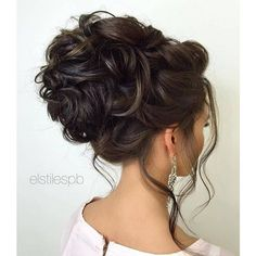 45 Most Romantic Wedding Hairstyles For Long Hair ❤ liked on Polyvore featuring beauty products, haircare, hair styling tools, hair and curly hair care