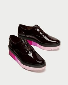 MULTICOLOURED FLATFORM BROGUES