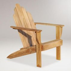 One of my favorite discoveries at WorldMarket.com: Teak Adirondack Chair