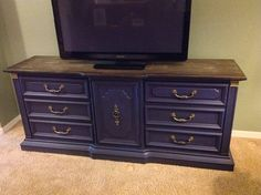 Refinished Blue dresser/buffet/tv stand by TwistedVintageAz, $300.00