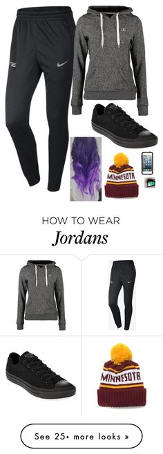 """""""Untitled #774"""" by erika-demass on Polyvore featuring mode, NIKE, Converse, DC Shoes en OtterBox"""