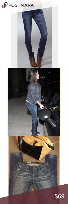 AG Premiere skinny straight jeans In excellent condition! Worn less than 10 times. Super cute jeans and will make your butt look amazing! Seen on Selena Gomez and other Celebs!! AG Adriano Goldschmied Jeans Straight Leg