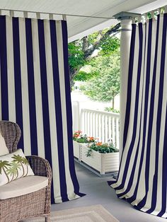 Elrene Home Fashions Highland Stripe Window Curtain Panel