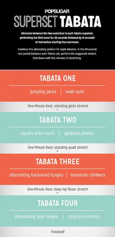 Use this tabata workout for trouble areas.tabata is a great way to change up your workouts Cardio, Tabata Workouts, At Home Workouts, Weight Workouts, Body Workouts, Fitness Tips, Fitness Motivation, Health Fitness, Fitness Routines