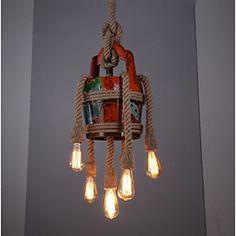 40W Traditionnel/Classique / Vintage / Rétro / Lanterne / Rustique Style mini Peintures Métal Lampe suspendueSalle de séjour / Chambre à