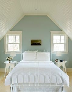Duck egg blue walls