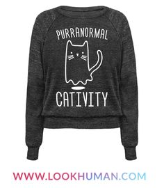Mysterious meows? Objects knocked over? Must be some purranormal cativity. Show off your paranormal cat love with this cat pun, ghostly, halloween design! Perfect for a cat lady, halloween party, halloween jokes, halloween puns, cat puns, and ghost puns!