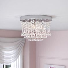 Swarovski Close to Ceiling Semi Flush Mount Candle Chandelier, Chandeliers, Chandelier Ideas, Chandelier Lighting, Hanging Crystals, Ceiling Fan With Remote, Decor Pillows, Luxury Vinyl, Drum Shade