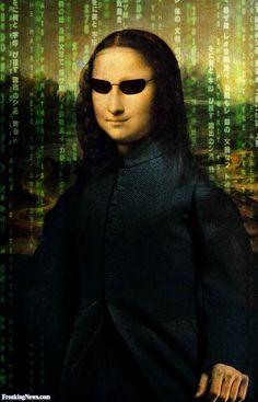 Mona Lisa meets The Matrix Mona Lisa Parody, Mona Lisa Smile, Album Cover, American Gothic, Love Film, Photocollage, Matrix, Famous Art, Italian Artist