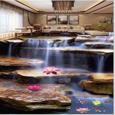 3d Floor Art, Floor Murals, Ceiling Murals, Floor Wallpaper, Custom Wallpaper, Wallpaper Murals, Tuscan Decorating, Interior Decorating, Stairway Decorating
