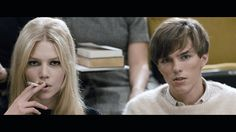 Aline Weber and Nicholas Hoult in A Single Man