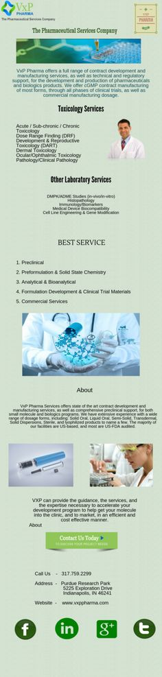 VxP Pharma Services offers state of the art contract development and manufacturing services, as well as comprehensive preclinical support, for both small molecule and biologics programs. We have extensive experience with a wide range of dosage forms, including: Solid Oral, Liquid Oral, Semi-Solid, Transdermal, Solid Dispersions, Sterile, and lyophilized products to name a few. The majority of our facilities are US-based, and most are US-FDA audited. Our contract manufacturing capabilities…