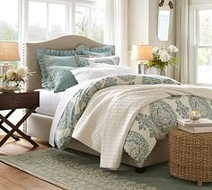 Finally doing the master bedroom. Bought Lucianna Medallion Bedding. Love  #potterybarn