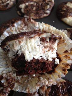 SKINNY!!  Chocolate Cheesecake Cupcakes Serving Size 1 cupcake: Nutrition per serving: Weight Watchers Points 4+ ~ Calories 136.7 ~ Fat 4.9 g ~ Carbs 19.3 g ~ Fiber 0.5 g ~ Protein 3.6 g
