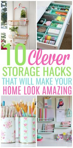 10 Clever Storage Hacks To Make Your Home Look Professionally Organized!