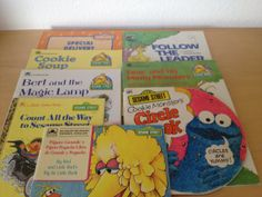 8 Vintage Sesame Street Books from SilverSmiths, $30.00 Free Shipping