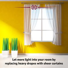Are your curtains making the room look gloomy?