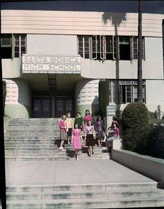 HISTORIC L.A.   THE WESTSIDE   SANTA MONICA:  Santa Monica High School , ca. 1955.