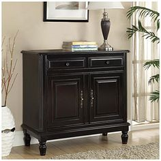 Black Antique Finish Cabinet at Big Lots.