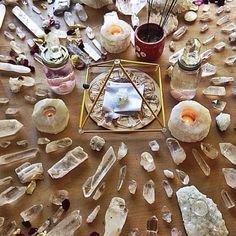 altar de cristais