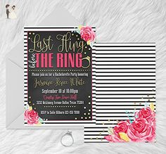 Last Fling before the Ring Bachelorette Party Invitations - Set of 10 - Wedding party invitations (*Amazon Partner-Link)