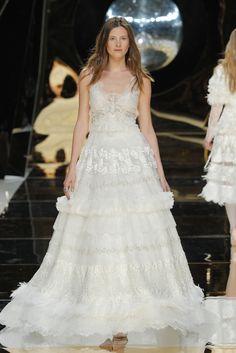 Yolan Cris at Barcelona Bridal Fashion Week: http://www.stylemepretty.com/2016/05/01/wedding-dresses-barcelona-bridal-fashion-week/