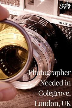 Photographer needed in Colegrove, London, UK. To learn more, and apply, click the pin!