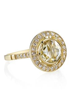 """Style NLR139-2, 0.81ct OP/VS rose-cut diamond set in a hand 3.53ctw old European, old mine and cushion cut crafted 18K yellow gold """"Single Stone"""" mounting, price upon request, Single Stone"""