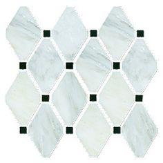 Brookfield Carrara Marble 12 x 12 in Mosaic. $12.99 a SF.