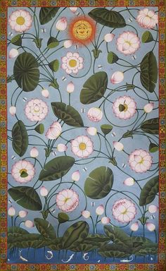 Ideas For Silk Screen Printing Illustration Ideas China Painting, Silk Painting, Painting & Drawing, Antique Illustration, Illustration Art, Kerala Mural Painting, Pichwai Paintings, Indian Folk Art, Floral Area Rugs