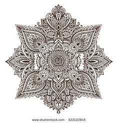 Vector pattern of henna floral elements based on traditional Asian ornaments. Paisley Mehndi Tattoo Doodle illustration