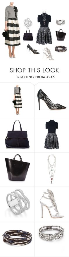 """Make Your Set..**"" by yagna ❤ liked on Polyvore featuring Maison Margiela, Valentino, Mansur Gavriel, Balenciaga, DANNIJO, Monica Vinader, Giuseppe Zanotti, Chan Luu, Jenny Packham and vintage"