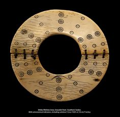 Africa | Lifetime ivory bracelet from the Dinka people of Southern Sudan…