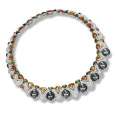 Cultured Pearl, Gem-set and Diamond Necklace, Mauboussin