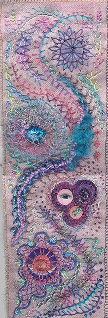 An exciting example of creative embroidery   Looks like a zentangle embrodiered