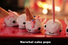 Narwhal cup cakes - i should make these!!