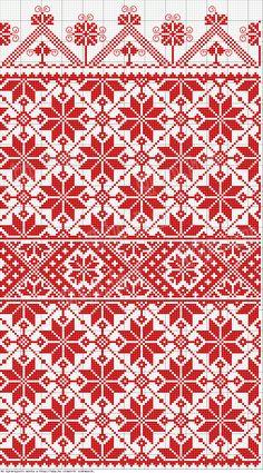 Rábaközi hímzések blanket idea free knit chart fair isle