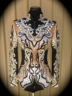 Western Show Shirts, Western Show Clothes, Horse Show Clothes, Western Outfits, Western Wear, Chemises Country, Showmanship Jacket, Horseback Riding Outfits, Show Jackets