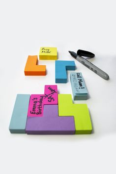 Tetris Post-its (they just make me happy)
