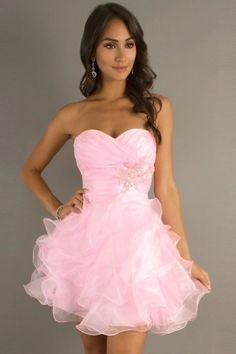 2014 New Arrival Homecoming Dresses Sweetheart Ball Gown Short/Mini With Beads