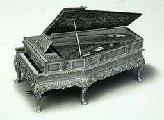 Photograph of a Broadwood piano designed by Sir Edwin Lutyens for Queen Mary's Dolls House, 1924