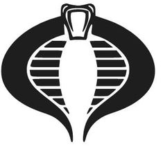 Die cut vinyl Cobra Commander logo in different sizes and colors. These could come in handy.