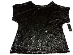 Adrianna Papell Black Sequin Blouse Plus Sz 2X Shirt Top NWT #AdriannaPapell #Blouse #EveningOccasion