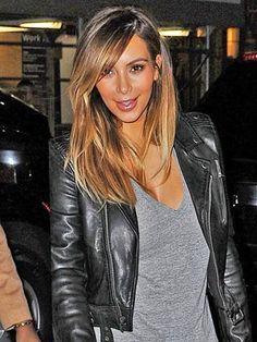 Cortes, Kardashian Kraz, Cabello 333, Color Corte De Pelo, Color Corte, Peinados, Cabello, Kim Kardashian Hair Ombre, Kim Kardashian Side Bangs