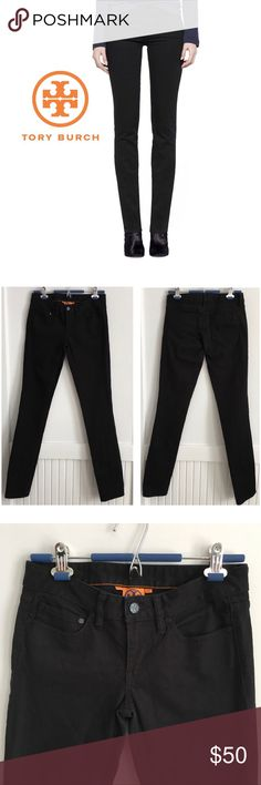 """Tory Burch Black Super Skinny GREAT Pre-loved condition. 98% cotton, 2% spandex. 34"""" inseam. Tory Burch Jeans Skinny"""