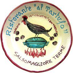 Salsomaggiore Terme - Ristorante Al Tartufo: Faraona in cocotte con  tartufi (apr. 64 - nov. 79 )
