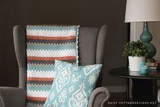 Crochet Blanket Pattern: A Quick & Simple Pattern - Daisy Cottage Designs Granny Stripe Crochet, Modern Crochet Blanket, Striped Crochet Blanket, Baby Boy Crochet Blanket, Afghan Crochet Patterns, Crochet Afghans, Crochet Blankets, Crochet Daisy, Crochet Rugs
