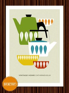Great Kitchen posters featuring vintage Catherineholm kitchenware
