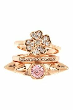 Pretty sparkling rings.
